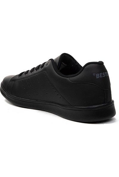 Bestof Büyük Numara Siyah Erkek Spor Ayakkabısı