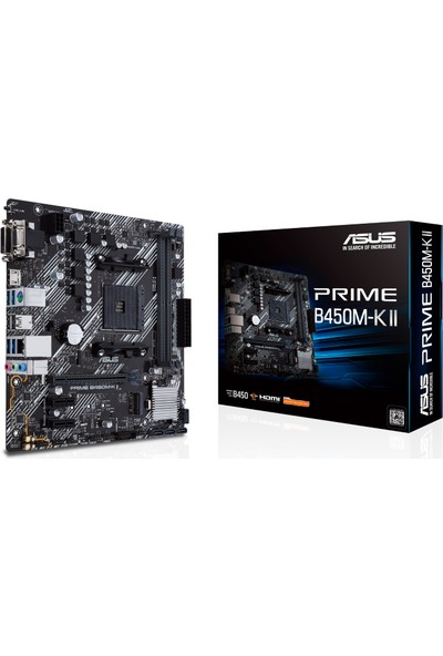 Asus Prime B450M-K II AMD B450 AM4 DDR4 4400MHz Micro ATX Anakart