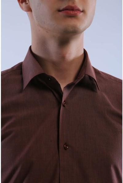 İntersivin Slim Fit Füme Gömlek