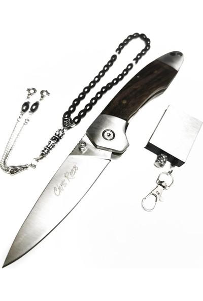 Chris Reeve 20,50 cm Ahşap Kabza Çelik Çakı Hediyeli