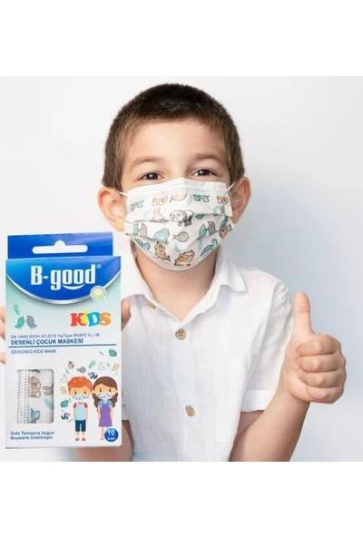 B-good Telli Cerrahi Maske Yetişkin 50'li + Desenli Çocuk Maske 10'lu