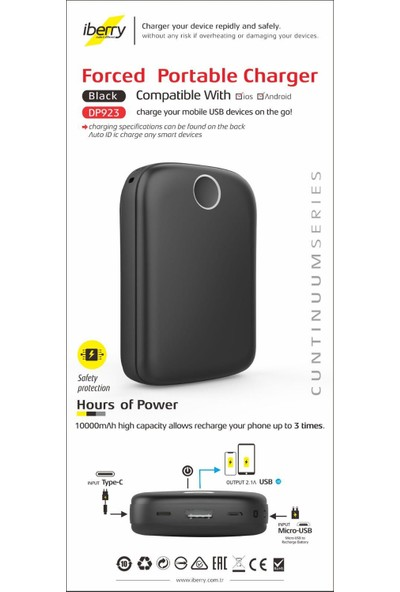 iBerry Powerbank Taşınabilir Şarj Aleti 10.000 Mah
