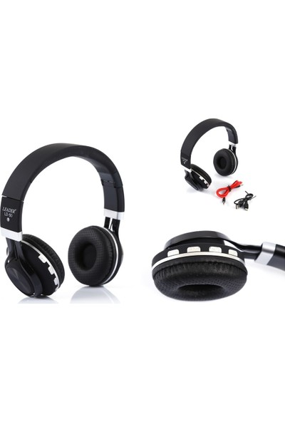 Leader Ld-50 Kablosuz Kulaküstü Kulaklık Siyah