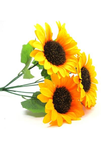 Masif Dekor Yapay Çiçek Ayçiçeği Demeti - 6 Adet