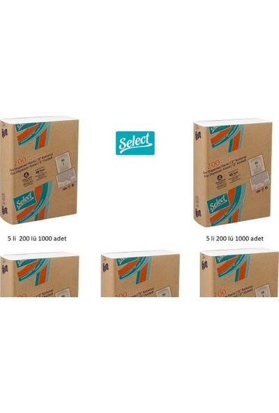 Select Z Katlamalı Dispenser Çek Al Kağıt Havlu 200'LÜ x 5 Paket Toplam 1000'LI Havlu