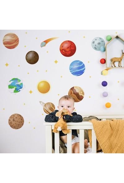 Artikel Gezegenler ve Yıldızlar Duvar Stickerı