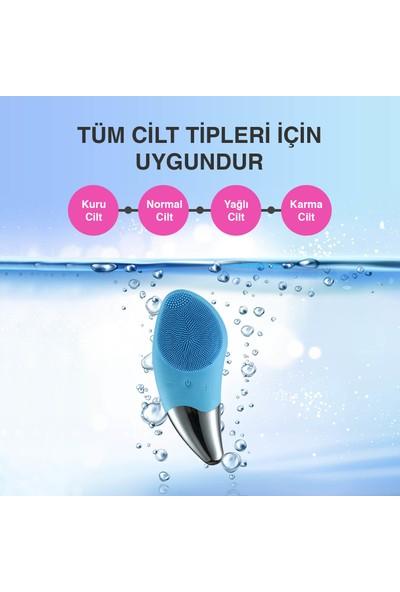 Dopagu Sonic Facial Brush Yüz Temizleme Cihazı ve Derma Roller 0.5 mm