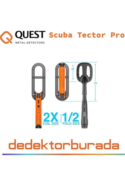 Quest Dedektör Yeni - Quest Scuba Tector Pro Dedektör