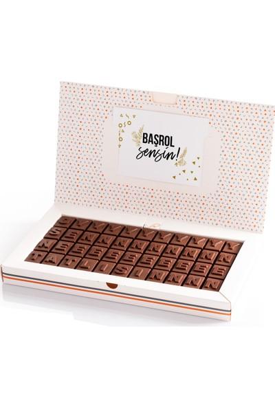 Hediye Sepeti Oy Sen Ne Tatlısın Motivasyon Mesajlı Harf Çikolata