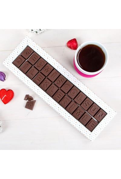 Hediye Sepeti Geçmiş Olsun Dileklerimle Mesajlı Harf Çikolata