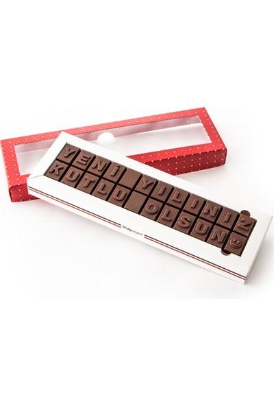 Hediye Sepeti Yeni Yıl Hediyesi Mesajlı Harf Çikolata
