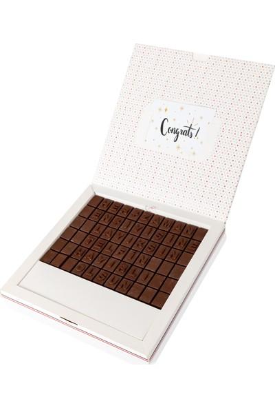 Hediye Sepeti Terfi Hediyesi Mesajlı Harf Çikolata