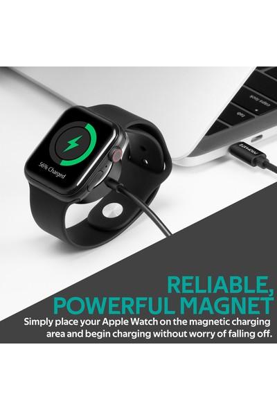 Promate Auracord-C Kablosuz Şarj Cihazı Apple Watch İçin Özel MFI Onaylı 5 Watt Type-C Bağlantılı