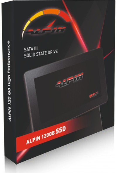 "Alpin SSD120 Hard Disk SSD 2.5"" 120GB 550MB-530MB/s Solid State Drive"