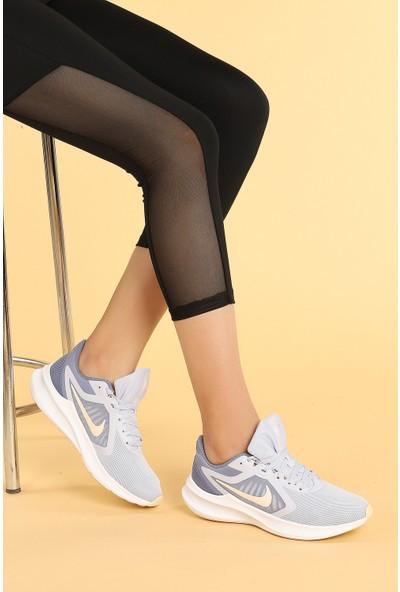 Nike Downshifter 10 Günlük Fileli Kadın Spor Ayakkabı Buz Mavi