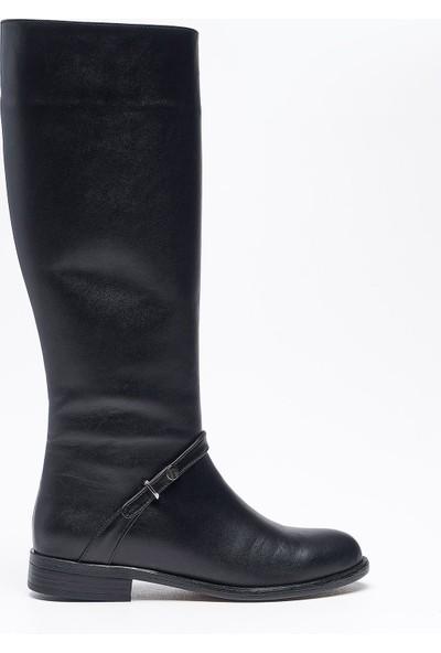 Louis Agave Siyah Deri Kadın Çizme