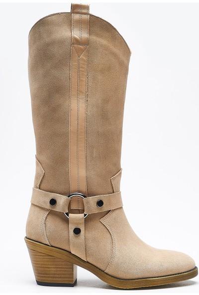 Louis Geras Bej Deri Kadın Çizme