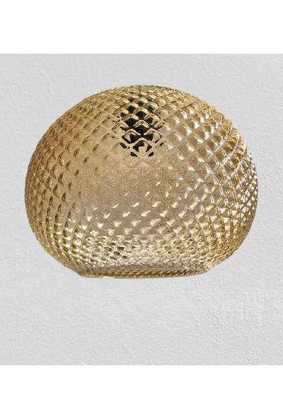Wınd Lıghtıng Maya Tekli Sarkıt, Bal Renk Cam, E27 Gold Renk Plastik Duylu