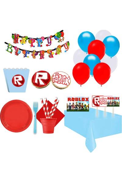 Partylandtr Roblox Butik Kurabiyeli 16 Kişilik Doğum Günü Parti Seti