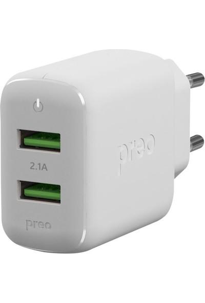 Preo My Mobile MMU34 2 USB Smart Duvar Sarjı
