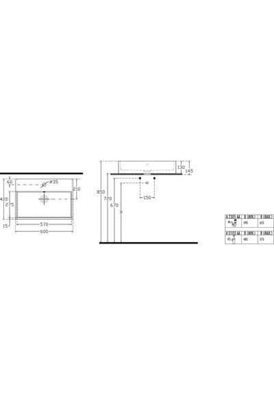 Ideal Standart Strada Lavabo 60 cm