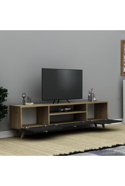 Hepsi Home Ela Tv Ünitesi - Safir Meşe Siyah Mermer