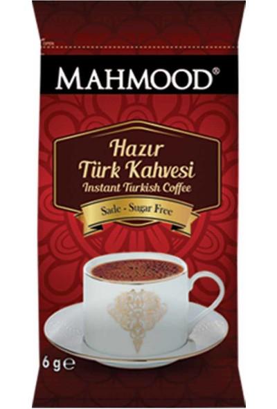 Mahmood Coffee Hazır Türk Kahvesi Sade 6 gr ve Orta 8 gr ve Şekerli 9 gr 12 Adet x 3