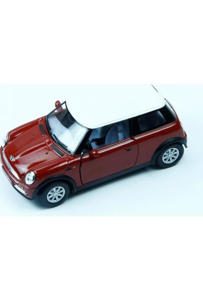 Vardem Metal Çek Bırak Mini Cooper Bordo Renk Araba