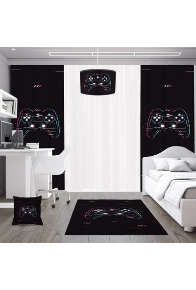 Dekogen Game Pad Gamer Serisi Genç Çocuk Odası Halısı 80 x 150 cm
