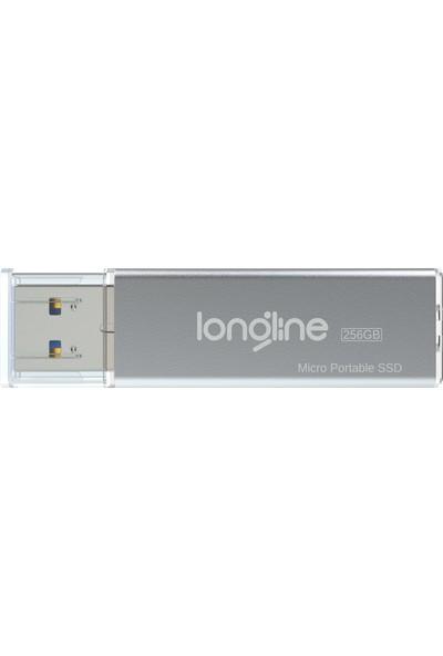Longline Micro Portable 256GB USB SSD Flash Bellek Gri 550/500MB/SN Okuma Yazma