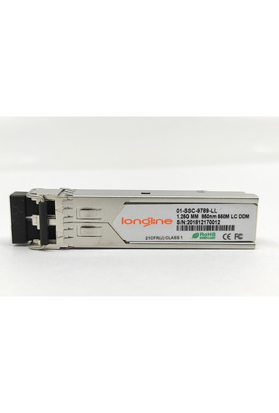 Longline 1000BASE-SX Sfp Short Haul Module Dell Sonicwall Dell 1.25G mm Dual Fiber 850NM 550M Lc Ddm Compatible 01-SSC-9789-LL