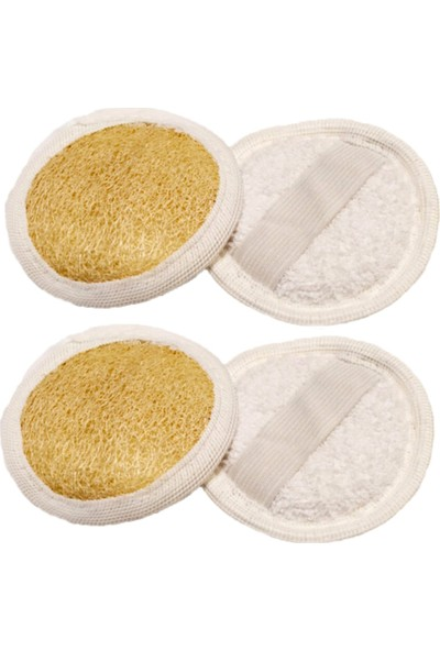 Biogreenlife %100 El Yapımı Doğal Hatay Kabak Lifi, Yüz Lifi Kese, Peeling Etkili Banyo Lifi ( 2 Adet )