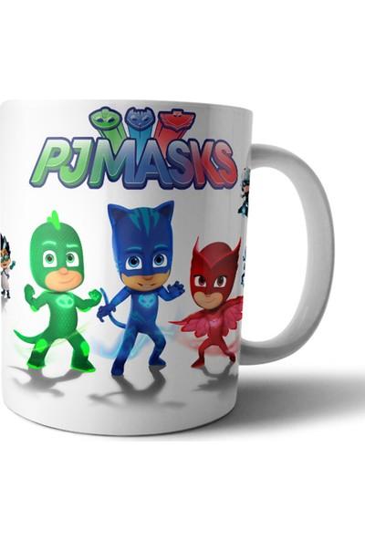 Kişisel Tasarım Pjmasks Pijamaskeliler Kupa Bardak Model 2 - 1