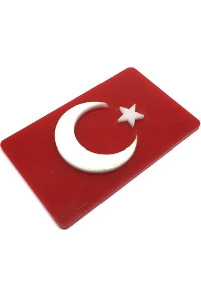 Trend Garaj Türk Bayrağı Kabartma Pleksi Yapışkanlı Arma