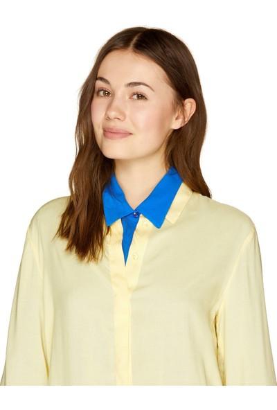 United Colors Of Benetton Düz Renk Viskon Gömlek
