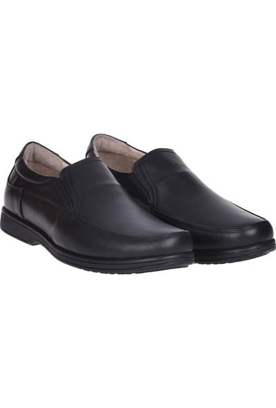 Balayk 1095 Siyah Deri Erkek Comfort Ayakkabı