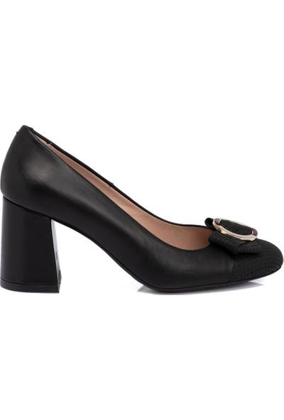 Tergan Siyah Kadın Deri Ayakkabı 65291A55