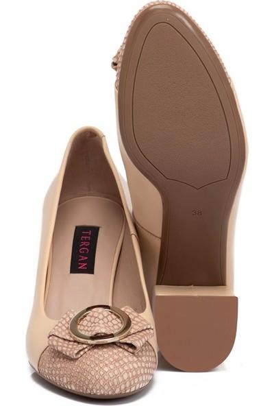 Tergan Pudra Kadın Deri Ayakkabı 65291T40