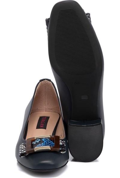 Tergan Lacivert Kadın Deri Ayakkabı 65292O15