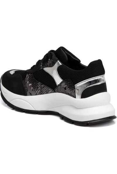 Tergan Siyah Kadın Deri Ayakkabı 65305A64