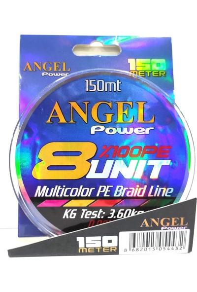 SakuraLine Angel Power 8 Unit %100 Pe 8 Kat Çok Renkli Örgü Ip Misina 0.12 mm