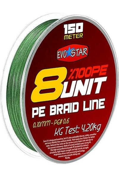 Evostar 8 Unit %100 Pe 8 Kat Örgü Ip Misina Yeşil - 0.10 mm