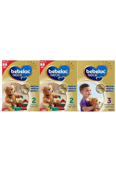 Bebelac Gold 2 Devam Sütü 2*900 g( 6-12 Ay) + Bebelac Gold 3 Çocuk Devam Sütü 350 gr 1 Yaş+