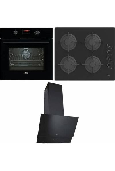 Teka Chef 5 Ankastre Set (Hak 627 Fırın-Pac 60 OCAK-TVT60.1 Davlumbaz)