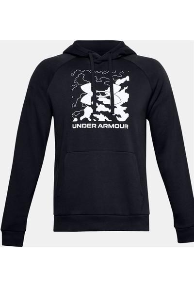 Under Armour Rival Fleece Box Logo Erkek Sweatshirt