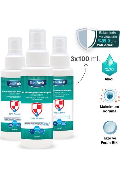 Deep Fresh Antibakteriyel Sprey Dezenfektan 3 x 100 ml
