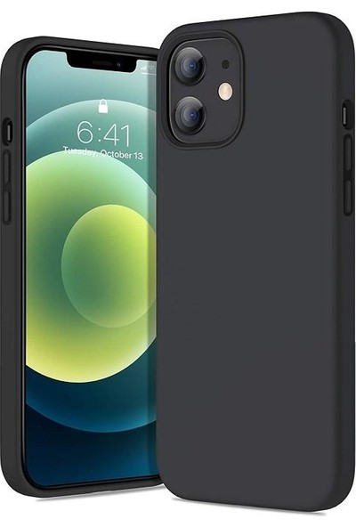 Engo Apple iPhone 12 Kılıf 6.1 Inç Liquid Silicone Lansman Kılıf