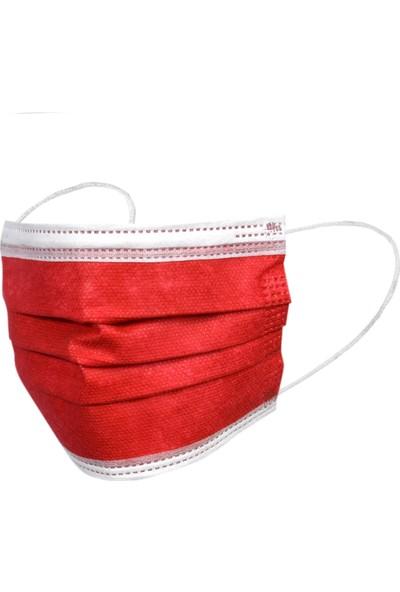 5 Renk Kombin 3 Katlı Tam Full Ultrasonik Cerrahi Maske 50 Adet 10 Arlı Paketlenmiş Yeni Trend Filtreli Steril Maske