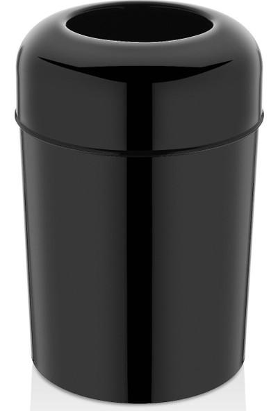 Rulopak Pota Kapak Çöp Kovası Siyah 15 lt