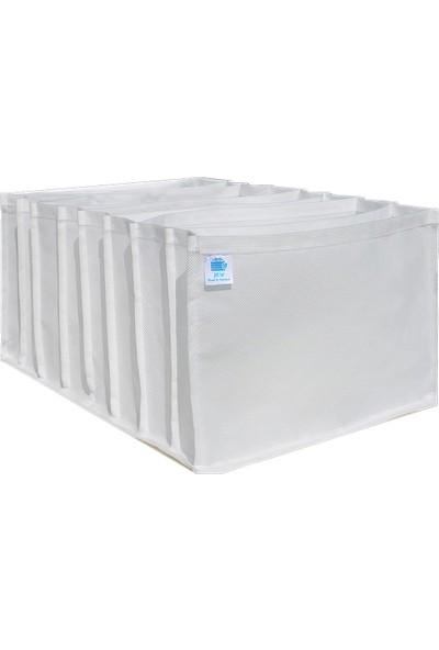 Mia Home Production Beyaz - x Large Boy / 8 Gözlü Çekmece Dolap Içi Düzenleyici - Organizer